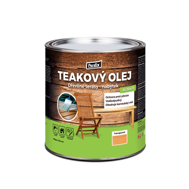 Perdix prírodný teakový olej – transparent 2,5l